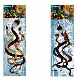 Il Mondo Degli Animali Rettili Serpenti In Gomma Assortiti In Busta 3pz 51203