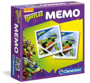 Clementoni 13467 - Memo Games Ninja Turtles