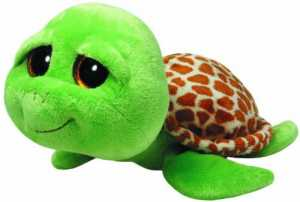 Ty 7136989 Beanie Boos - Peluche Della Tartaruga Zippy, Misura L, 24 Cm, Colore: Verde