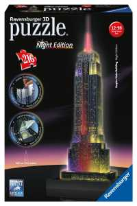 Ravensburger 12566 - Empire State Building Night Edition Puzzle, Multicolore