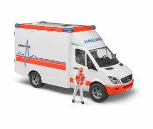 Bruder Spielwaren Gmbh + Co.Kg Bruder Emerg Ambulanza C/Autista 2536, Multicolore, 837280
