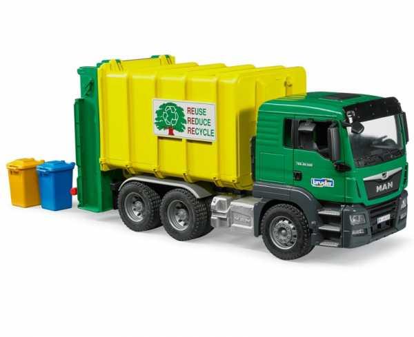 Camion Rifiuti Verde Man Tgs