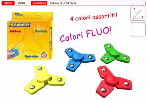 SPINNER SUPER SPINNER FLUO 3 PUNTE ASSORTITI 1 PZ