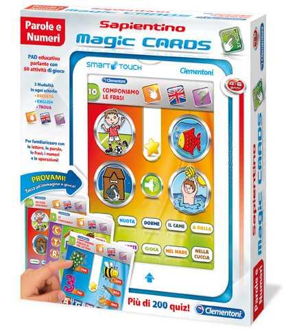 Clementoni 13261 - Sapientino Magic Cards Lettere E Numeri, 4-6 Anni