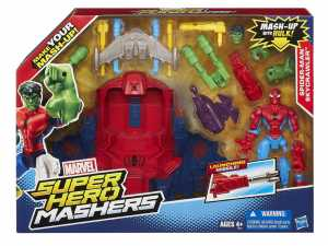 Hasbro A8497EU4 - Spiderman Hero Mashers Spider Smash Jet