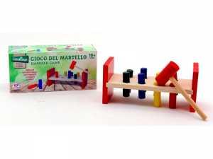 Globo Giocattoli 3658821.5x 9.2x 9.2cm Legnoland Bench Con 8-cylinders E Martello