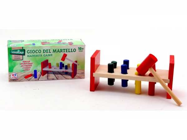 Globo Giocattoli Globo–3658821.5x 9.2x 9.2cm Legnoland Bench Con 8-cylinders E Martello