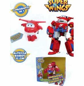 Giochi Preziosi - Super Wings Jett Super Robot, Veicolo Trasformabile In Robot, Personaggio Jett Incluso
