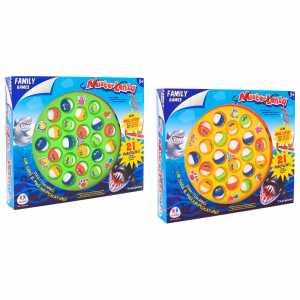 Family Games- Gioco Pesca B/O Con 21 Pesci/4 Canne/Musica, 38159