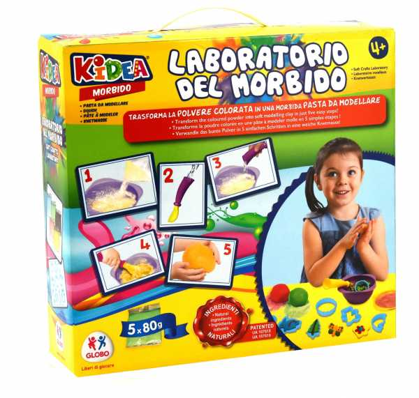 Kidea- Crea Morbido 5 X 80g/10 Formine, 89 Cm, 38342