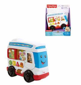 Fisher Price- L'Autobus Di Cagnolino, Multicolore, FKF15