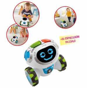 Fisher-Price Roby Robot Gioca & Impara, Robottino Giocattolo Educativo Per Bambini Dai 3 Anni, Con Musica, Suoni E Canzoni, FLP12