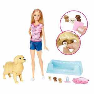 Barbie Cuccioli Appena Nati Incinta E 3 Cagnolini, FDD43