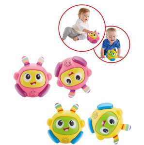 FISHER PRICE Robottino Rotola E Gattona Bright Beats Spin & FHN44 FHN45