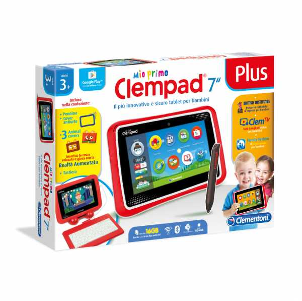 "Clementoni 16604 – Tablet Clempad 7"" Plus – [versione 2017]"