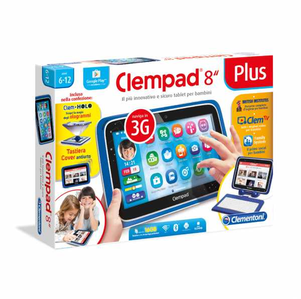 "Clementoni 16605 – Tablet Clempad 8"" Plus – [Versione 2017]"