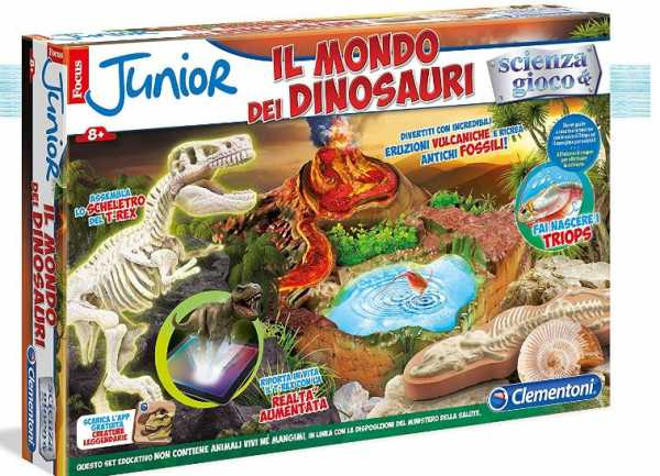 Clementoni 19030 - Focus Jr Il Mondo Dei Dinosauri