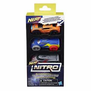 NERF AUTO NITRO GOMMA PIUMA SET 3 Pezzi - Hasbro (C0774eu4)