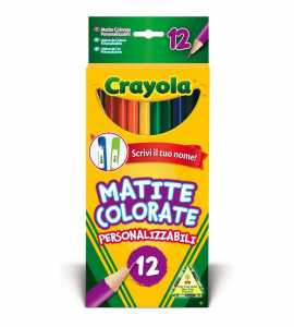 Crayola - 12 Matite Colorate Personalizzabili