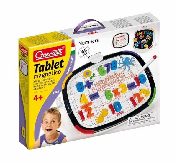 Quercetti 05323 - Gioco Tablet Magnetico Numeri Basic