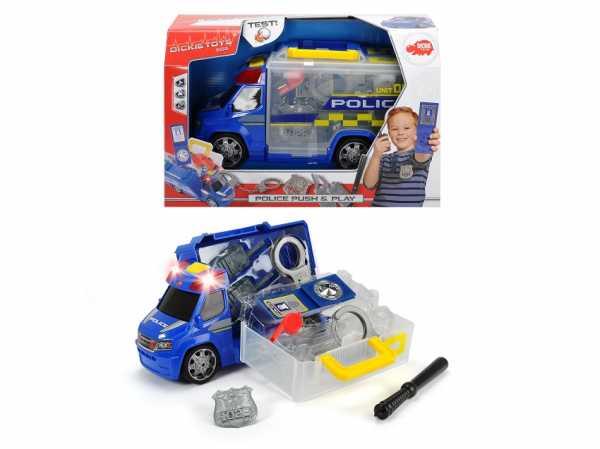 Dickie 203716005 - Push & Play Polizia