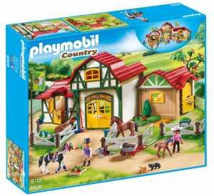 Playmobil Country 6926 - Grande Maneggio Con Tinker, Trakehner E Puledro, Dai 4 Anni
