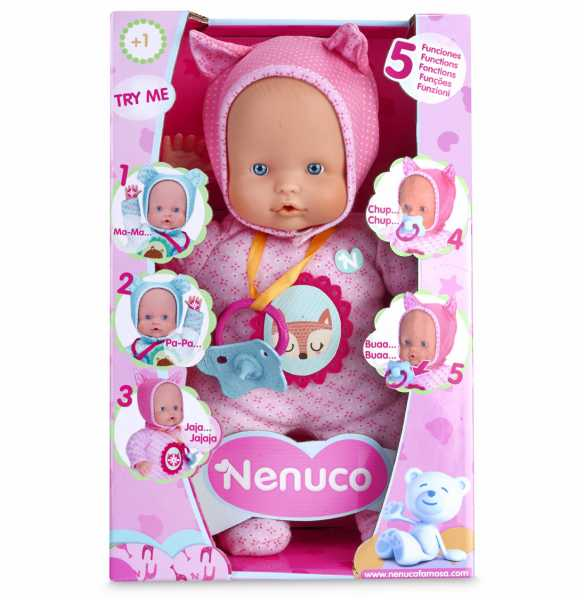 Nenuco Famosa 700012664 Soft 5 Funzioni, 30 Cm, Rosa