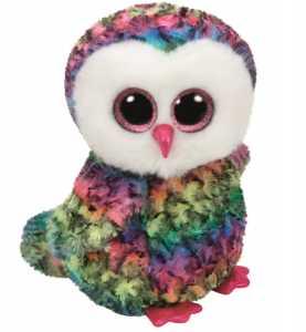Ty Beanie Boos 28Cm Owen Uccello Volatile Peluches Giocattolo 977, Multicolore, 8421371433