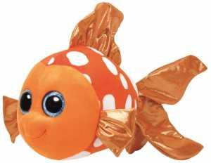 TY 37146–SAMI–Pesce Pagliaccio, 24cm, Con Occhi Brillanti, Glubschi S, Beanie Boo S