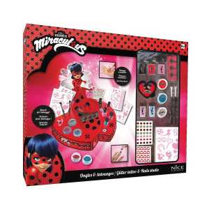 Nice 52015 - Miraculous -Ladybug Glitter And Tattoo Station