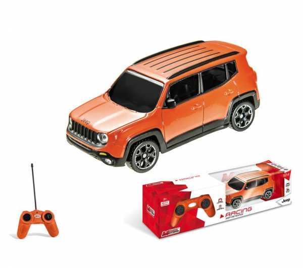 Mondo Jeep Renegade Veicolo Radiocomandato, Colore Arancione, Scala 1:24, 63425