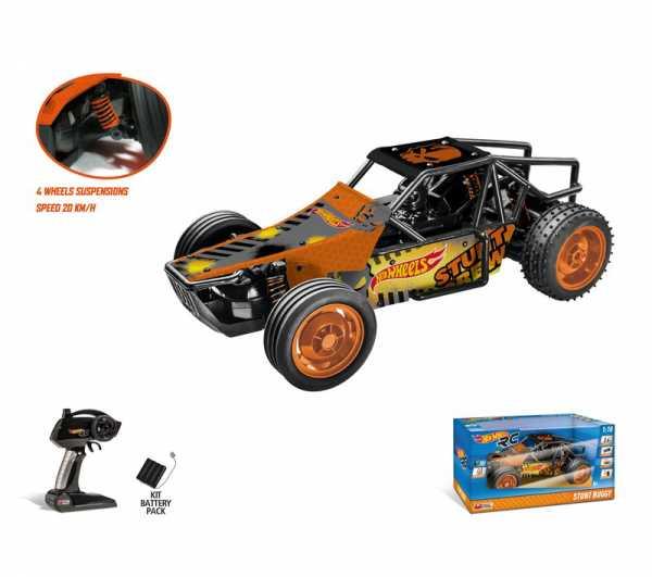 Mondo 63437 Radiocomando Hot Wheels Stunt Buggy In Scala 1:10 Con Batterie Ricaricabili Incluse