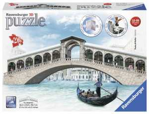 Ravensburger Italy 12518 - Ponte Di Rialto Puzzle, 3D Building