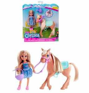 Barbie Chelsea E Pony, DYL42, Modelli/Colori Assortiti, 1 Pezzo