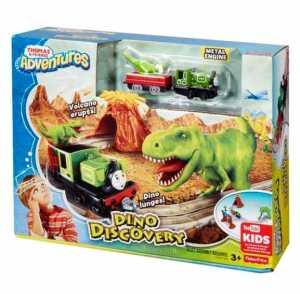 Il Trenino Thomas FBC67 - Adventures - Alla Scoperta Del Dinosauro - Kit Pista Trenini Giocattolo