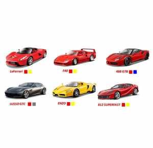 Bburago 5 Pack 2.75 Ferrari R&P Evolution GT, 18-56665 , Modelli/Colori Assortiti, 1 Pezzo
