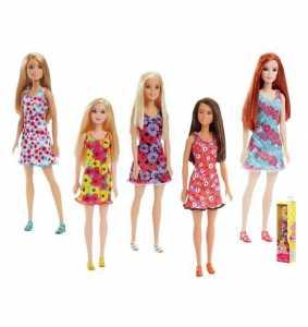 Barbie Trendy Con Abito-Stampato Con Divertenti Icone, Colore Giallo, FJF17
