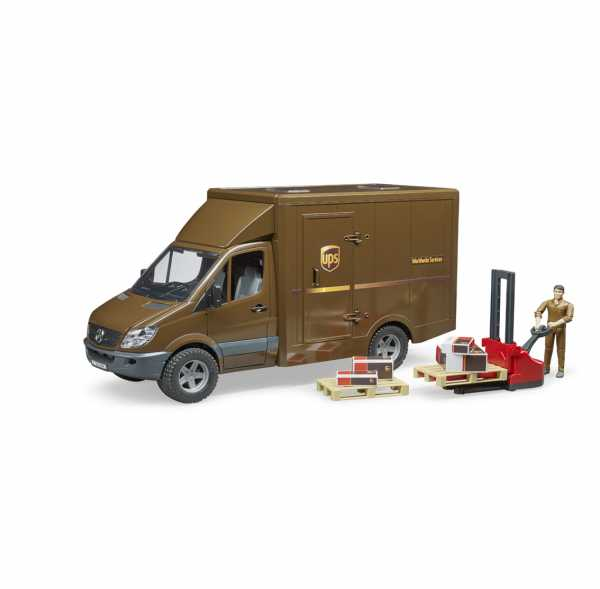 Bruder 02538–Camion Mercedes Benz Sprinter UPS Con Personaggio E Accessori