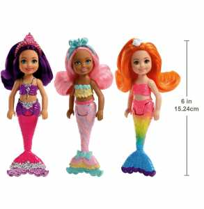 Mattel Barbie Fkn04Barbie Dream Topia Mini Della Sirena: BonBon Di Chelsea