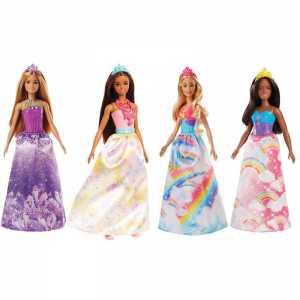 Barbie Principessa Della Baia Dell'Arcobaleno-dal Mondo Di Dreamtopia, FJC98, Modelli/Colori Assortiti, 1 Pezzo