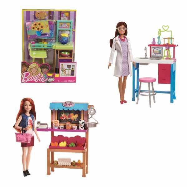 Barbie Negozio Di Alimentari Con Scaffali Bilancia E Accessori, FJB27