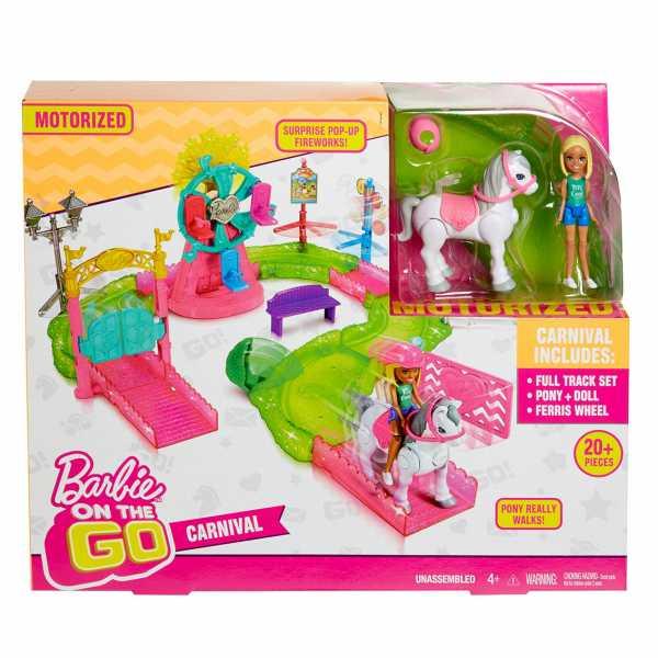 Barbie - Parti E Vai Luna Park - Bambola E Pony Inclusi E Pezzi Componibili, FHV70