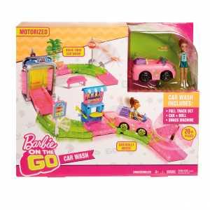 Barbie Parti E Vai Autolavaggio-Bambola E Veicolo Inclusi E Pezzi Componibili, FHV91, Modelli/Colori Assortiti, 1 Pezzo