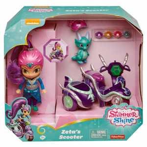 Shimmer & Shine- Grande Bambola Di Zeta Con Scooter E Nazboo 3+ Anni, FHN31