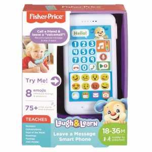 Fisher-Price Smartphone Lascia Un Messaggio, Giocattolo Elettronico Ridi Impara 18-36 Mesi, FPR15