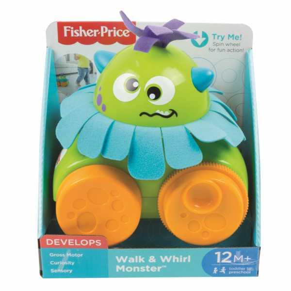 Fisher-Price- Mostriciattolo Gira E Vai, Giocattolo Per Bambini 1+ Anni, Multicolore, FHG01