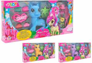 PLAYSET PONY CRINIERA PETTINARE Accessori 3 COLORI - Globo (38481)