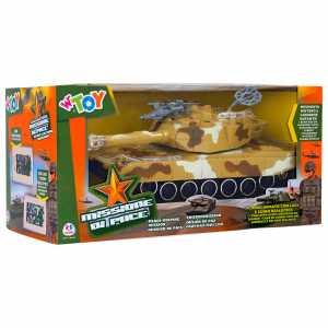Globo Giocattoli GLOBO37833W 'Toy Serbatoio Con Bump And Go/Luce/Suono/Figure