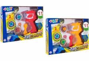 W'TOY- Trottola Con Lanciatore, 2 Pezzi, 6 Cm, 38275