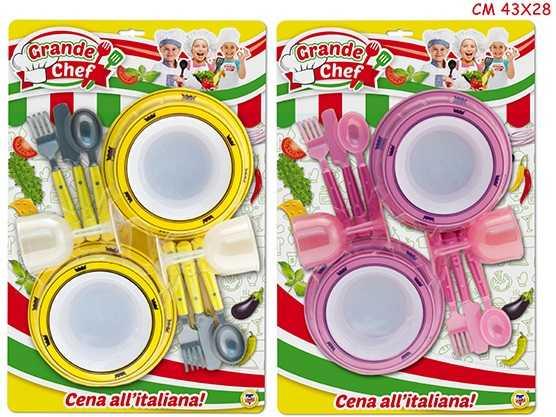 SCATOLA CUCINA CHEF DINNER SET 12 Pezzi 2 COLORI - Teorema (63586)